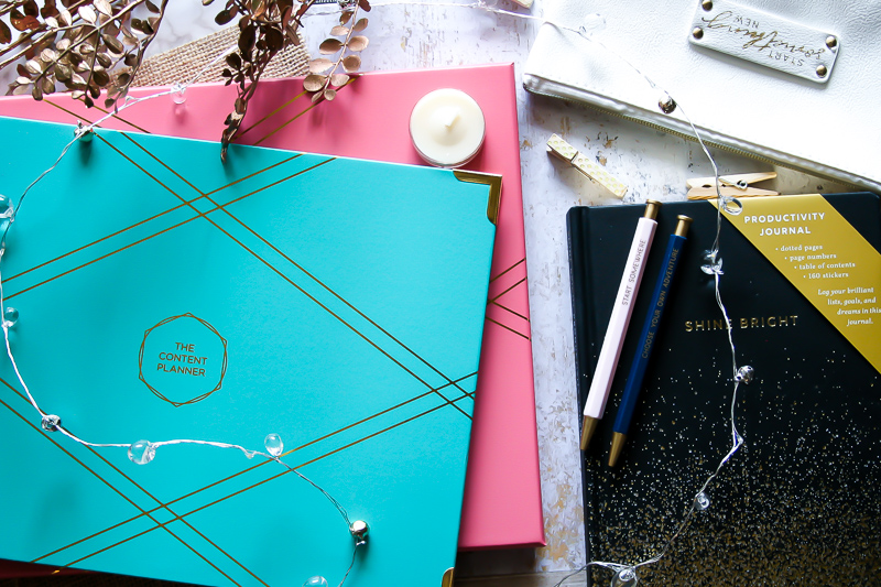 Ready to have the most productive year yet? Enter my giveaway for a chance to win The Content Planner by Kat Gaskin, Blogging with Purpose by Sheila Joy, a Productivity Journal, and a Pencil Case with Inspirational Pens!